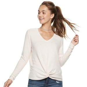 Candies pale pink sweater. Medium